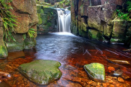 Заставки водопад, камни, скалы
