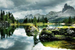 Бесплатные фото Antelao Dolomiti Mountain Re,Италия,Bergsee,природа,озеро,federa,облака