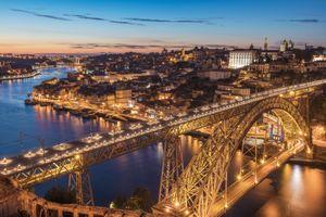 Фото бесплатно Порто, мост, закат