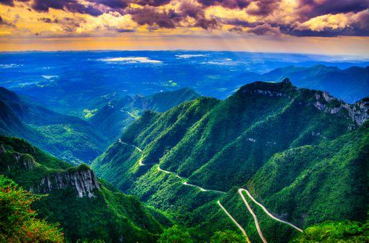 Фото бесплатно Серра-ду-Риу-ду-Растро в Санта-Катарина, Бразилия, горы