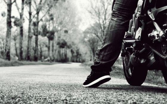 Biker preparing for a trip
