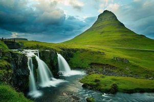 Фото бесплатно Kirkjufell Mountain, Grundarfjorour, Гора Киркьюфелл