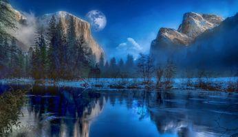 Фото бесплатно пейзаж, Йосемитский национальный парк, деревья