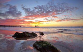 Заставки пляж, небо, горизонт