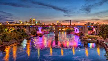 Фото бесплатно Minneapolis, Minnesota, река