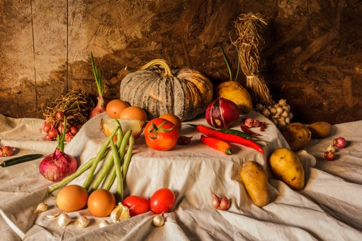 Autumn still-life with vegetables · free photo