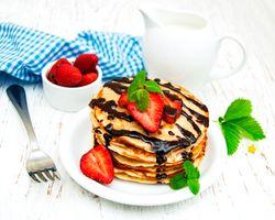 Бесплатные фото выпечка, блины, ягоды, шоколад