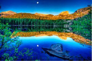 Фото бесплатно Скалистые горы Национальный парк, горы, отражение
