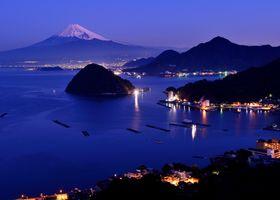 Бесплатные фото город,здание,пейзаж,Япония,гора Фудзи,горы,снег