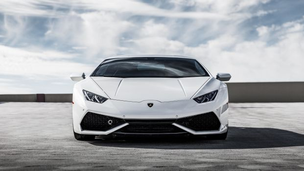 Белый Lamborghini Huracan новый суперкар · бесплатное фото