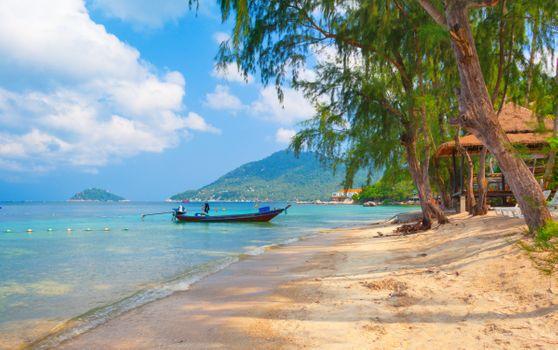 Заставки пляж, красиво, лодка