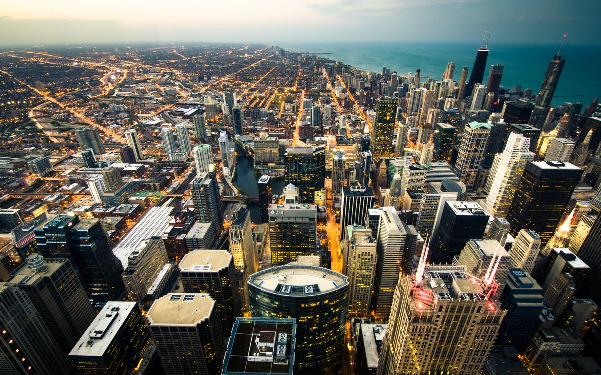 Фото бесплатно Чикаго, город, небоскребы - на рабочий стол