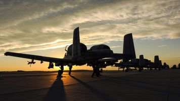 Photo free fairchild a-10 thunderbolt ii, sunset, airplane