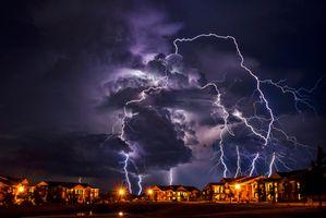 Фото бесплатно Оклахома, пейзаж, вспышки
