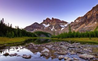 Photo free landscape, mountains, water
