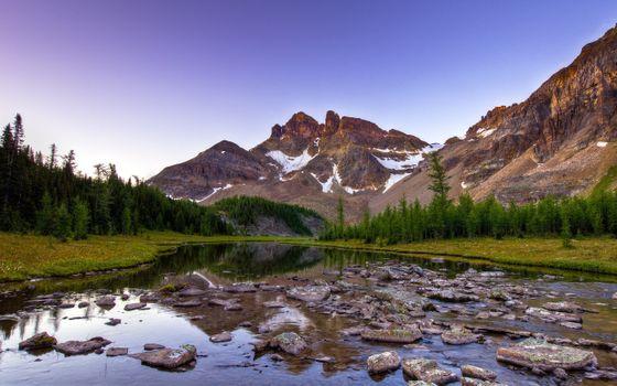 Заставки природа, пейзаж, река, горы, вода