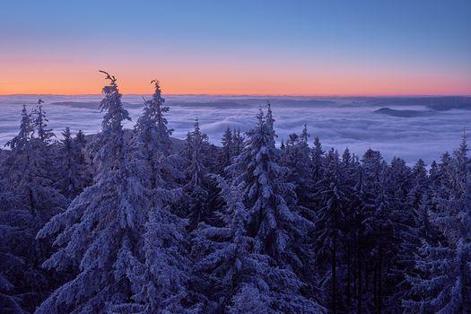 Фото бесплатно закат, горы, Германия