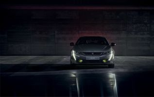 Photo free sport Peugeot 508 front view, headlights