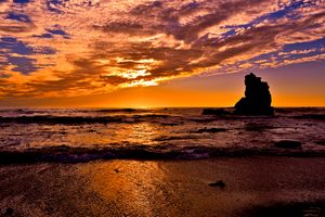 Заставки Sonoma Coast State Park, State of California, sea, summer, sunset, beach, seaside, landscape, shore, outdoor, ocean, water, coast, dusk, sky, морской пейзаж