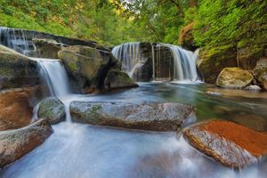 Фото бесплатно Sweet Creek Falls Trail Complex in Mapleton Oregon, водопад, камни