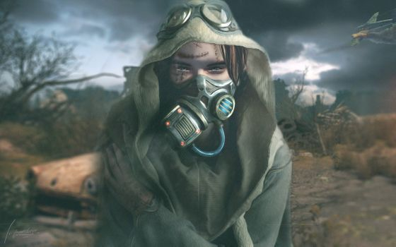 Photo free Apocalypse, gas mask, scars