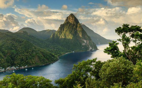 Photo free cloud, green, hills