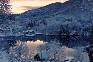 Заставки Финляндия, зима, озеро