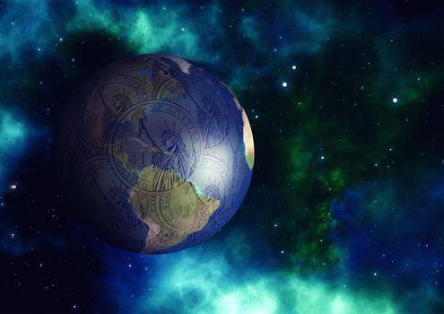 Фото бесплатно глобус, земля, доллар