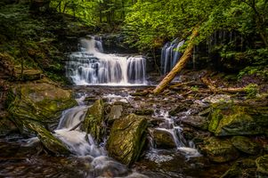 Photo free landscape, Ricketts Glen State Park, waterfall