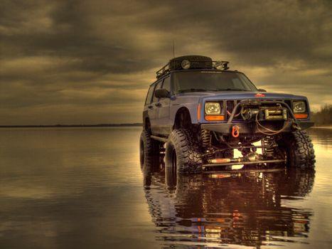 Jeep Cherokee XJ лифтинг · бесплатное фото