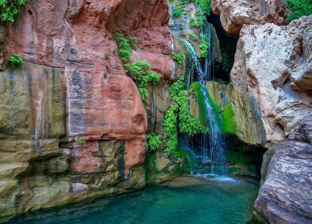 Фото бесплатно Королевская арка, Национальный парк Гранд-Каньон, Аризона, скалы, камни, водопад, природа, пейзаж, пейзажи
