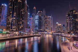 Фото бесплатно дорога, ночь, United Arab Emirates
