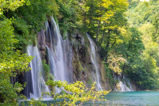 Summer waterfall in Croatia · free photo