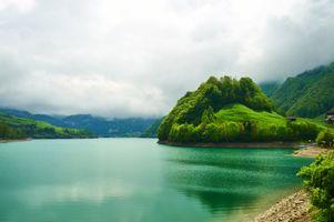 Фото бесплатно красивая река, изумрудное, озеро