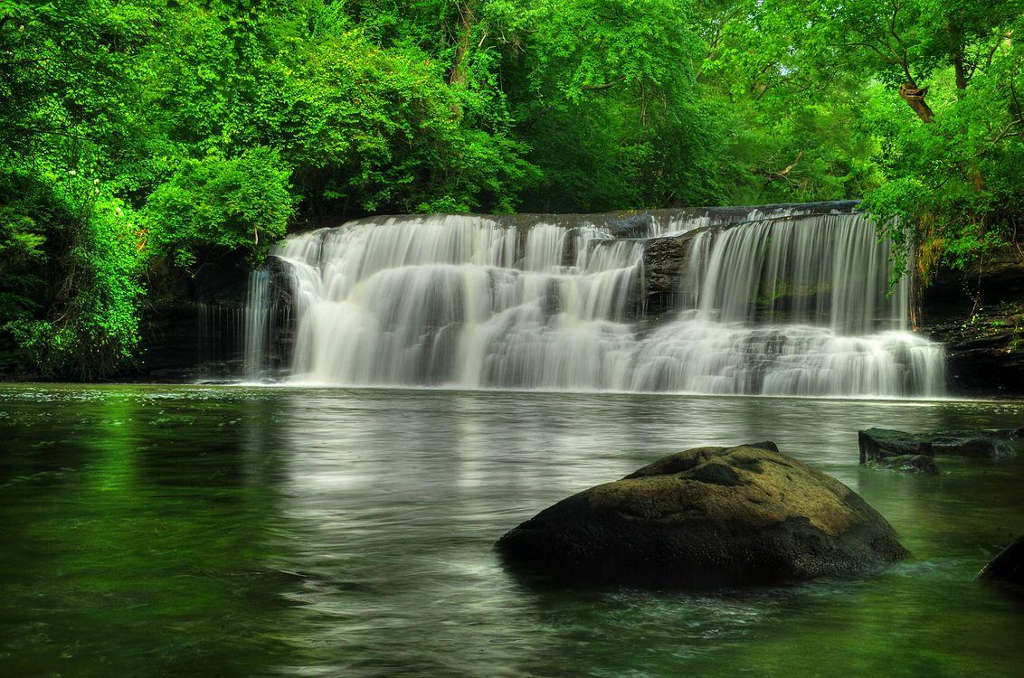 Free photo Mardis Mill Falls, waterfall, rocks - to desktop