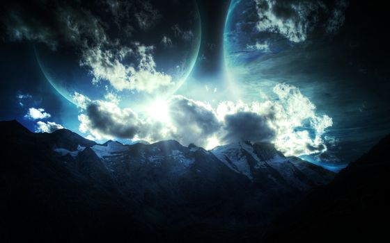 Photo free mountains, planet, relief