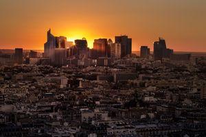 Заставки Франция, городской пейзаж, закат