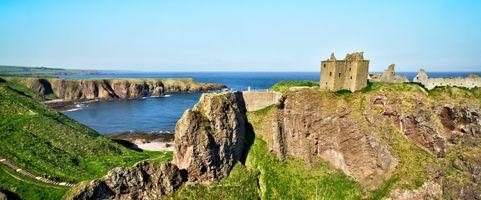 Бесплатные фото Dunnottar Castle,Rock,Scotland,United Kingdom