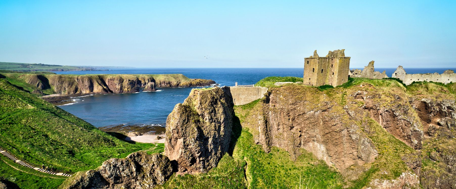 Фото бесплатно Dunnottar Castle, Rock, Scotland, United Kingdom, пейзажи