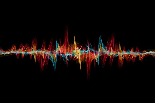 Заставки абстракция, радиоволны, разноцветные