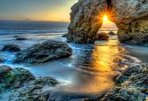 Фото бесплатно скалы, волны, Малибу