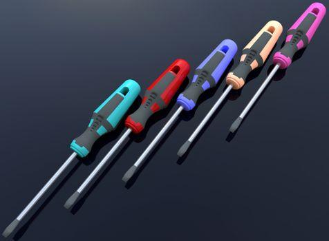 Заставки отвертка, инструмент, цвет