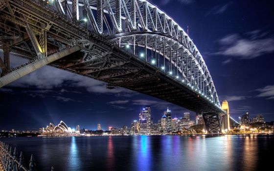 Photo free Australia, Sydney Harbour Bridge, Bridge Harbor bridge