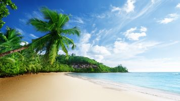 Заставки пляж, облака, природа