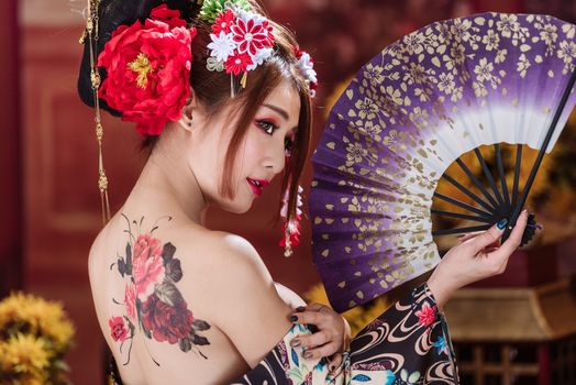 beautiful geisha · free photo
