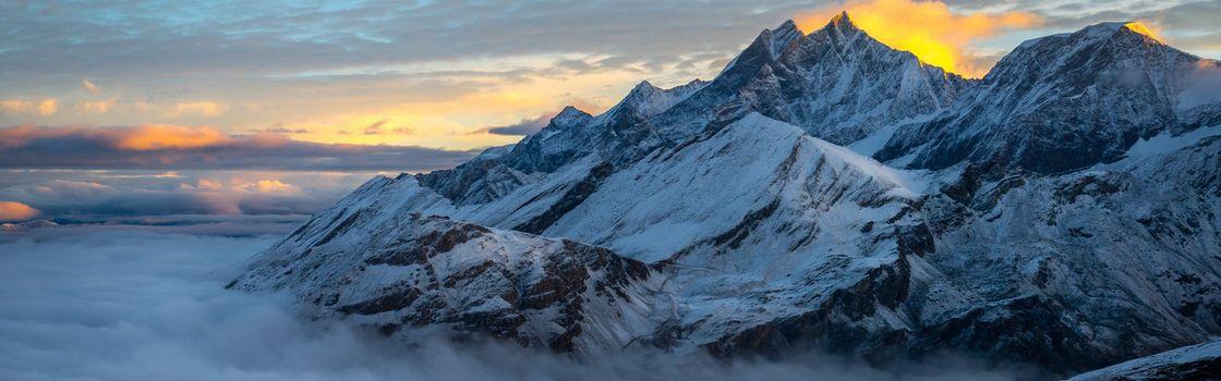Photo free mountain, snow, fog