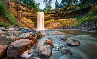 Фото бесплатно Миннеаполис, Миннесота, водопад