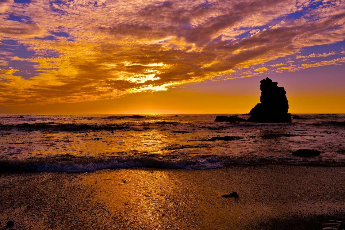 Фото бесплатно Sonoma Coast State Park, State of California, sea, summer, sunset, beach, seaside, landscape, shore, outdoor, ocean, water, coast, dusk, sky, морской пейзаж, пейзажи - скачать на рабочий стол