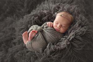Фото бесплатно мех, младенец, сон