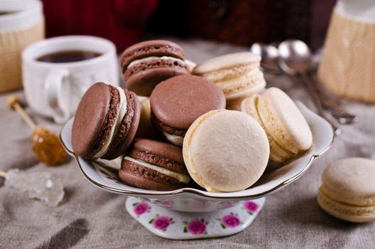 Фото бесплатно макарун, шоколадное, десерт